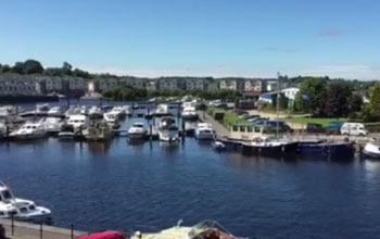 balcony view of Carrick-on-Shannon harbour