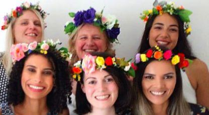 ladies with flower crowns